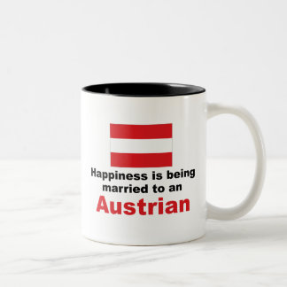 Happily Married To An Austrian Two-Tone Coffee Mug