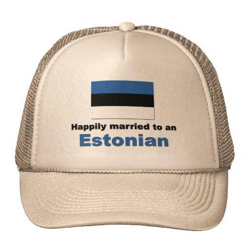 Happily Married to an Estonian Trucker Hat