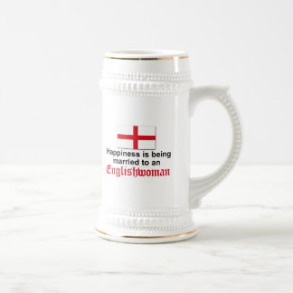 Happily Married to Englishwoman Beer Stein