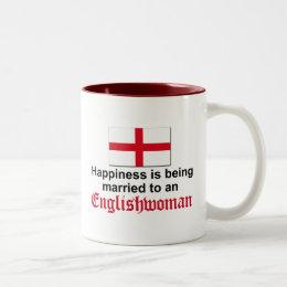 Happily Married to Englishwoman Two-Tone Coffee Mug