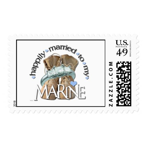 happily married to my Marine Stamps
