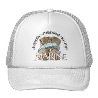 happily married to my Marine Trucker Hat