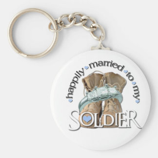 happily married to my Soldier Keychain