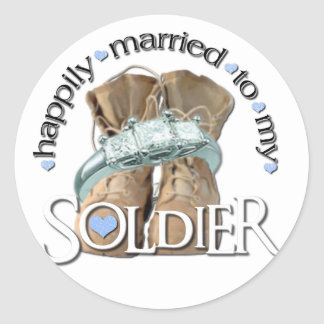 happily married to my Soldier Stickers