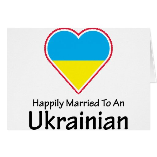 Happily Married Ukrainian Greeting Card