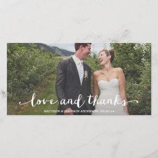 Happily Married   Wedding Thank You Photo Card