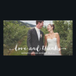 """Happily Married   Wedding Thank You Photo Card<br><div class=""""desc"""">Photographs provided courtesy of &#169;Blush Photography    For more colors and styles visit our shop!</div>"""