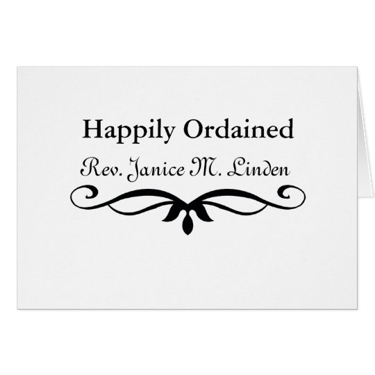 Happily ORDAINED MINISTER GIFTS Card