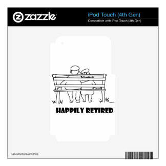 happily_retired1.jpg iPod touch 4G decal