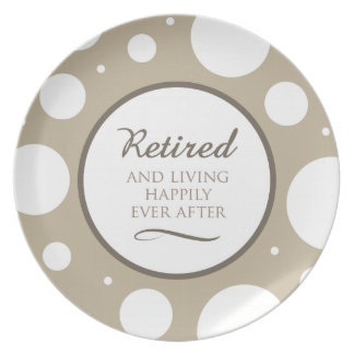 Happily Retired Plate