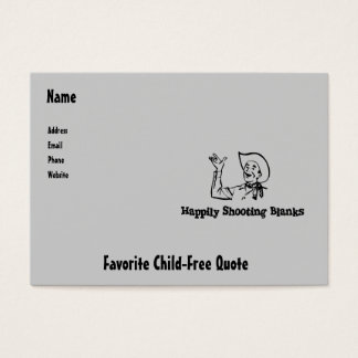 Happily Shooting Blanks Business Card