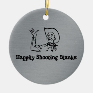 Happily Shooting Blanks Double-Sided Ceramic Round Christmas Ornament