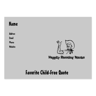 Happily Shooting Blanks Large Business Card