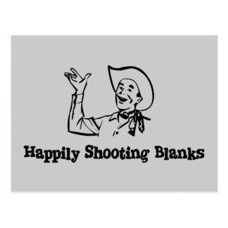 Happily Shooting Blanks Postcard