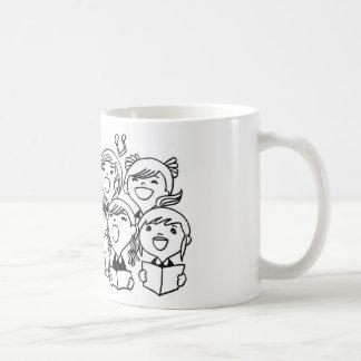 Happily Singing Children Classic White Coffee Mug