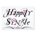 Happily Single 5x7 Paper Invitation Card