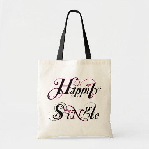 Happily Single Budget Tote Bag