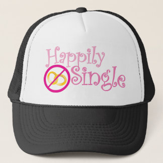 Happily Single Collection by MDillon Designs Trucker Hat