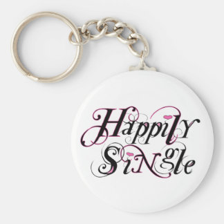 Happily Single Keychain