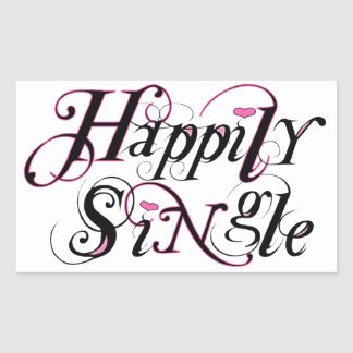 Happily Single Rectangular Sticker