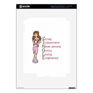 HAPPILY SINGLE DECALS FOR iPad 3