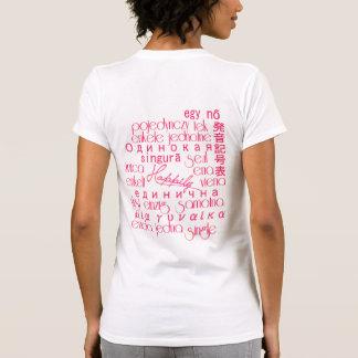 Happily Single Spoken 'Round The World/Hot Pink Su Tee Shirt