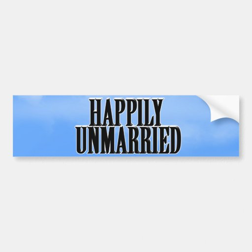 HAPPILY UNMARRIED CAR BUMPER STICKER