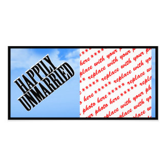 HAPPILY UNMARRIED CUSTOM PHOTO CARD
