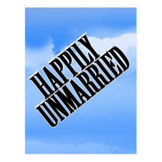 HAPPILY UNMARRIED POSTCARD