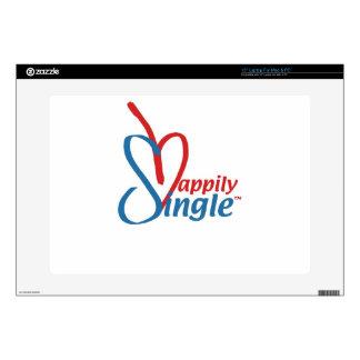 "HappilySingle™ 15"" Laptop Skins"