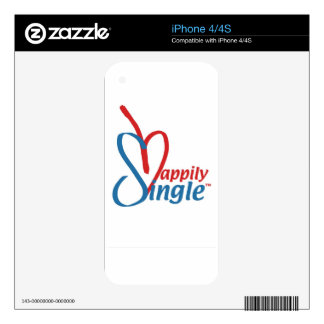 HappilySingle™ Skin For iPhone 4