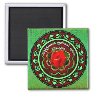 Happiness ... 2 inch square magnet