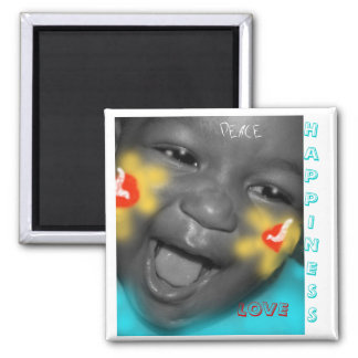 HAPPINESS 2 INCH SQUARE MAGNET