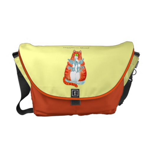 Happiness Ahead Messenger Bags