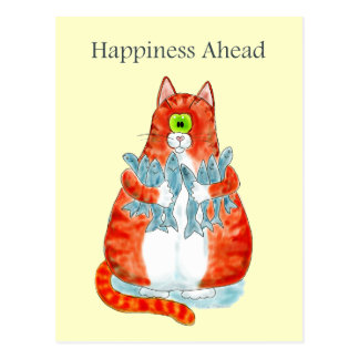 Happiness Ahead Postcard