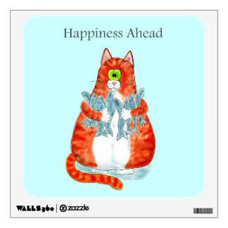 Happiness Ahead Wall Sticker