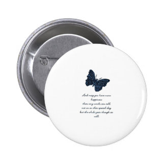 HAPPINESS AND BUTTERFLY. BUTTONS