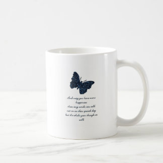 HAPPINESS AND BUTTERFLY. COFFEE MUGS