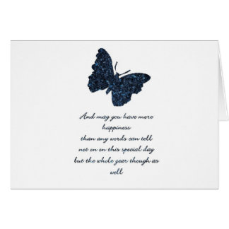 HAPPINESS AND BUTTERFLY. GREETING CARDS