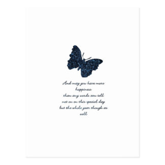 HAPPINESS AND BUTTERFLY. POSTCARDS