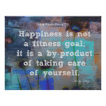 Happiness and Fitness! Poster