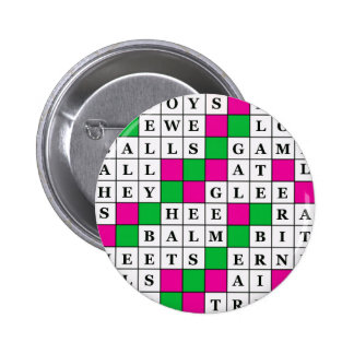 Happiness and Luck Crossword Button