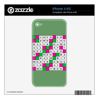 Happiness and Luck Crossword Decal For The iPhone 4S