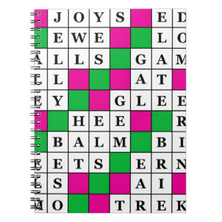 Happiness and Luck Crossword Notebook