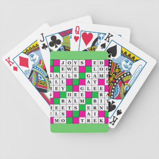 Happiness and Luck Crossword Bicycle Playing Cards
