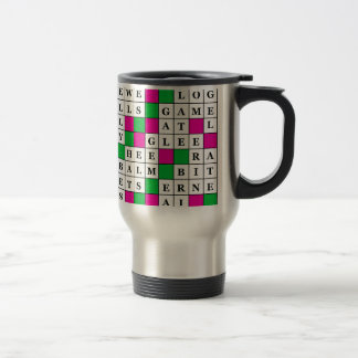 Happiness and Luck Crossword Travel Mug