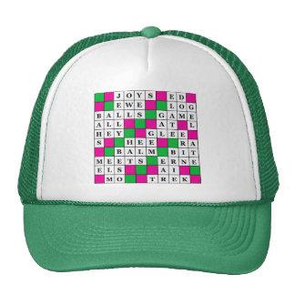 Happiness and Luck Crossword Trucker Hat