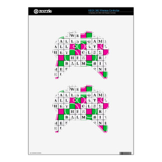 Happiness and Luck Crossword Xbox 360 Controller Skins