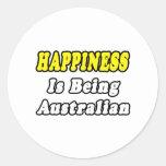 Happiness...Australian Stickers