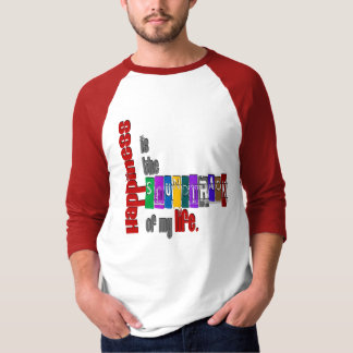 Happiness -  Basic 3/4 Sleeve Raglan T Shirt